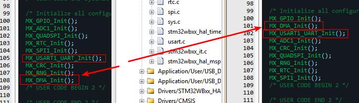 记一次STM32WB调试-串口DMA无法发送